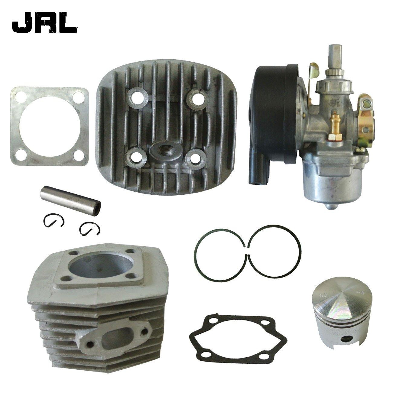 JRL Cylinder Head&Cylinder&Carburetor Fits 66/80cc 2 Stroke Engine Motorized Bicycle Nantong Power