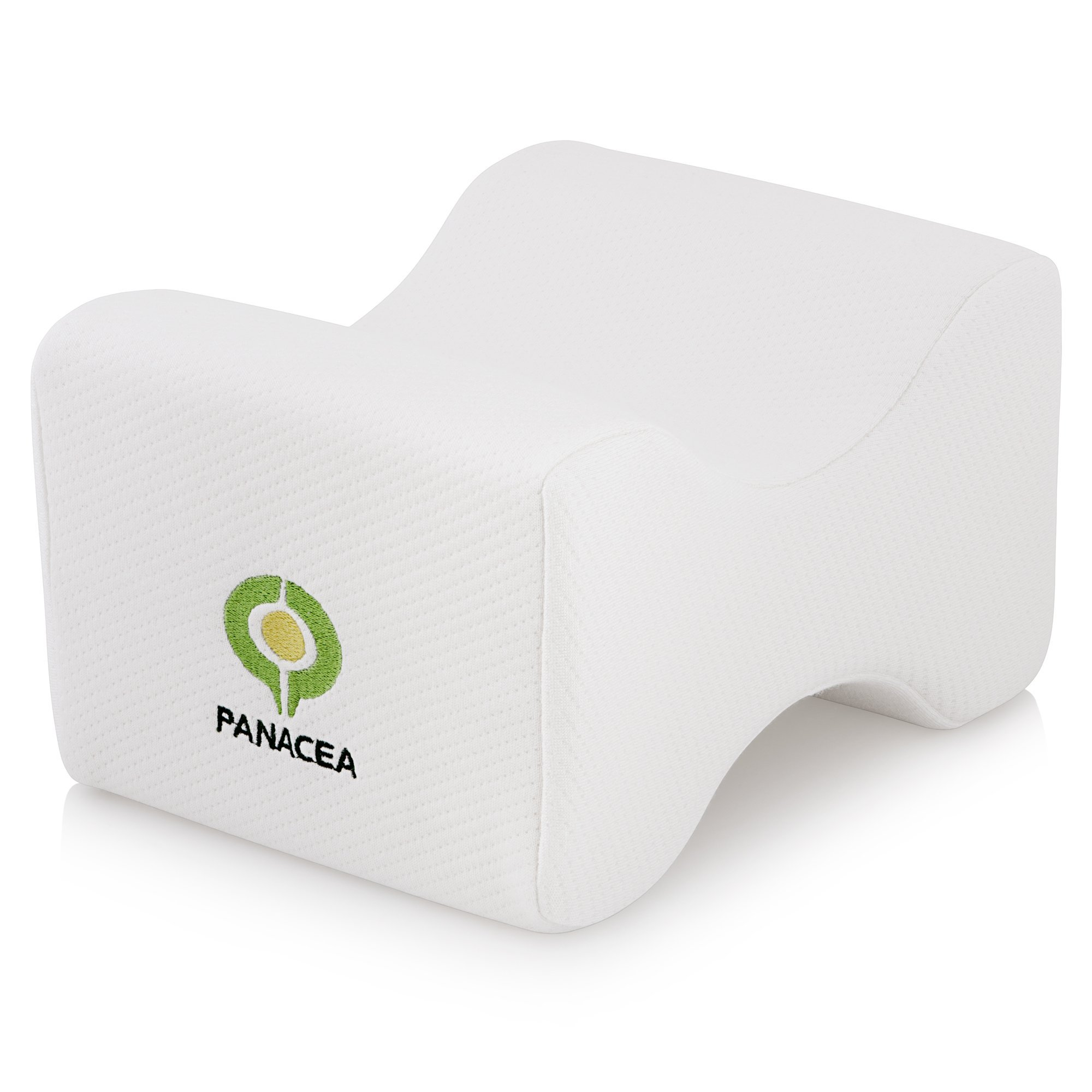 Panacea Wellbeing Memory Foam Knee Pillow with Breathable OEKO-TEX Cover for Side Sleepers - Provides Relief for Sciatic Nerve, Back, Leg and Hip Pain