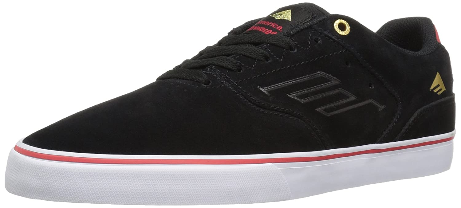 Emerica Reynolds Low Vulc Skate Shoe 6 D(M) US|Black/White/Red