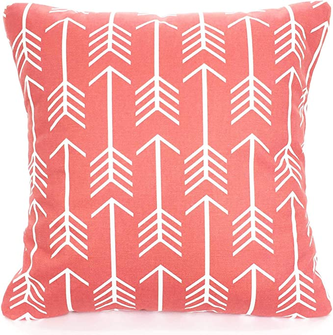Coral Pillow Covers, Arrow Print