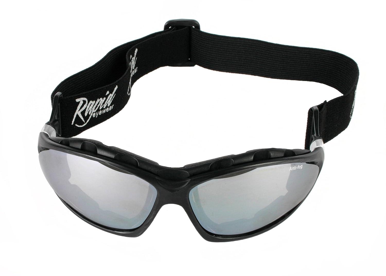Rapid Eyewear Moritz Noir LUNETTES DE SOLEIL SPORT EXTREMÉ fermé, pour Ski, Snowboard, de fond, de alpinisme - glacier escalade etc. Ideal masque pour hommes et femmes