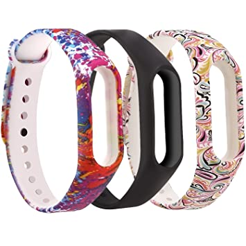Moretek Silicone Wrist Strap for Xiaomi Mi Band 2, Adjustable Bracelet  Replacement Wristband for Xiaomi Mi Band Miband 2nd Accessories