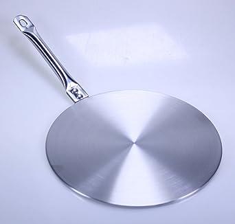 Inducción adaptador para cada Cocina adaptador placa Diámetro aprox. 23 cm Acero Inoxidable Inducción Simmer