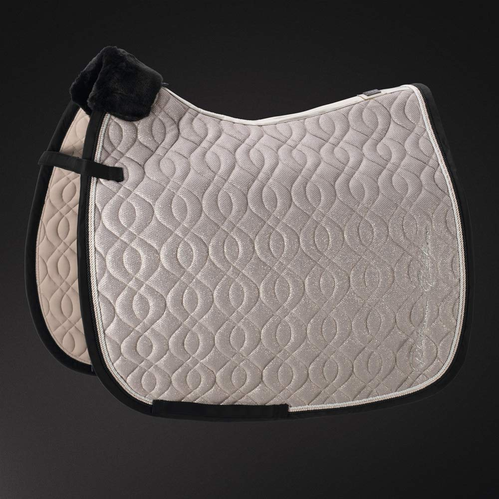 Black Pikeur Reitmoden Eskadron Platinum Limited Edition Mesh Glitter Saddle Cloth