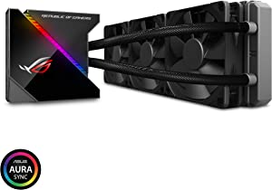 ASUS ROG Ryujin 360 RGB AIO Liquid CPU Cooler 360mm Radiator (Three 120mm 4-pin Noctua iPPC PWM Fans) with LIVEDASH OLED Panel and FanXpert Controls, 360 mm