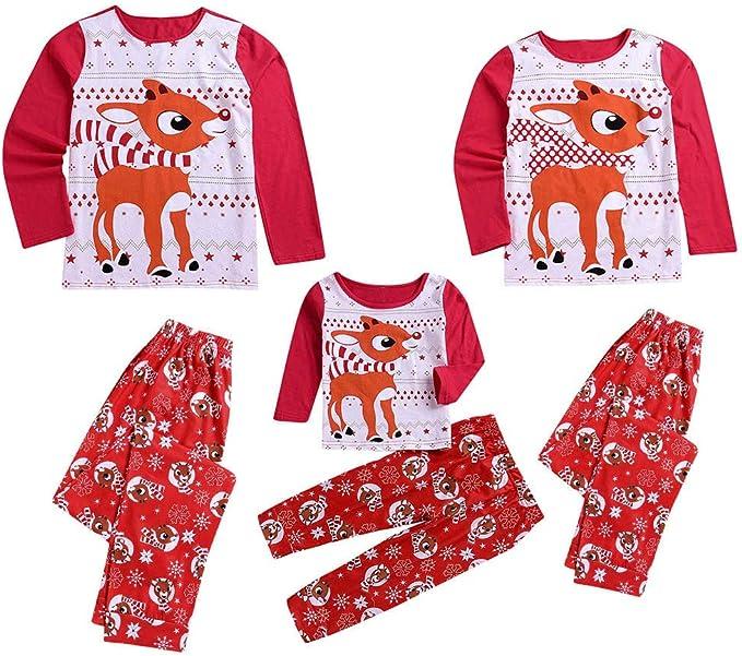 Pijamas de Navidad Familia Conjunto Pantalon y Casual Camisa para Mujer Hombre Niños Niñas 24 Meses-6 Años Sudadera Chándal Suéter Fannyfuny: Amazon.es: Ropa y accesorios