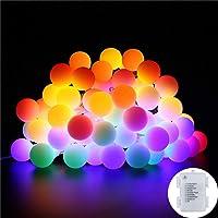Guirlande Lumineuses Boules B-right, [Timer] Led Guirlandes 40 LED 8 Modes Petites Balles Coloré étanche IP44 Décoration Romantique pour Fête De Noël Anniversaire De Mariage (4.5m)