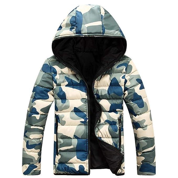 économiser a86df 30710 Frozac Camouflage Winter Down Jacket Coats Men New Mens ...