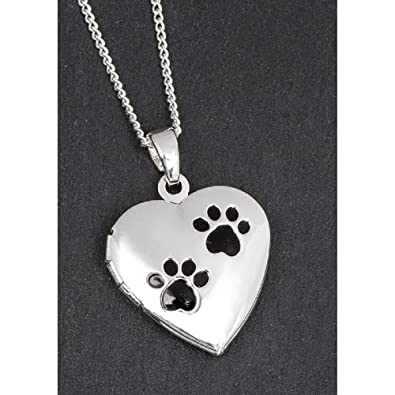 silver com dp your heart print lockets photos amazon sterling locket personalized paw with pet necklace in