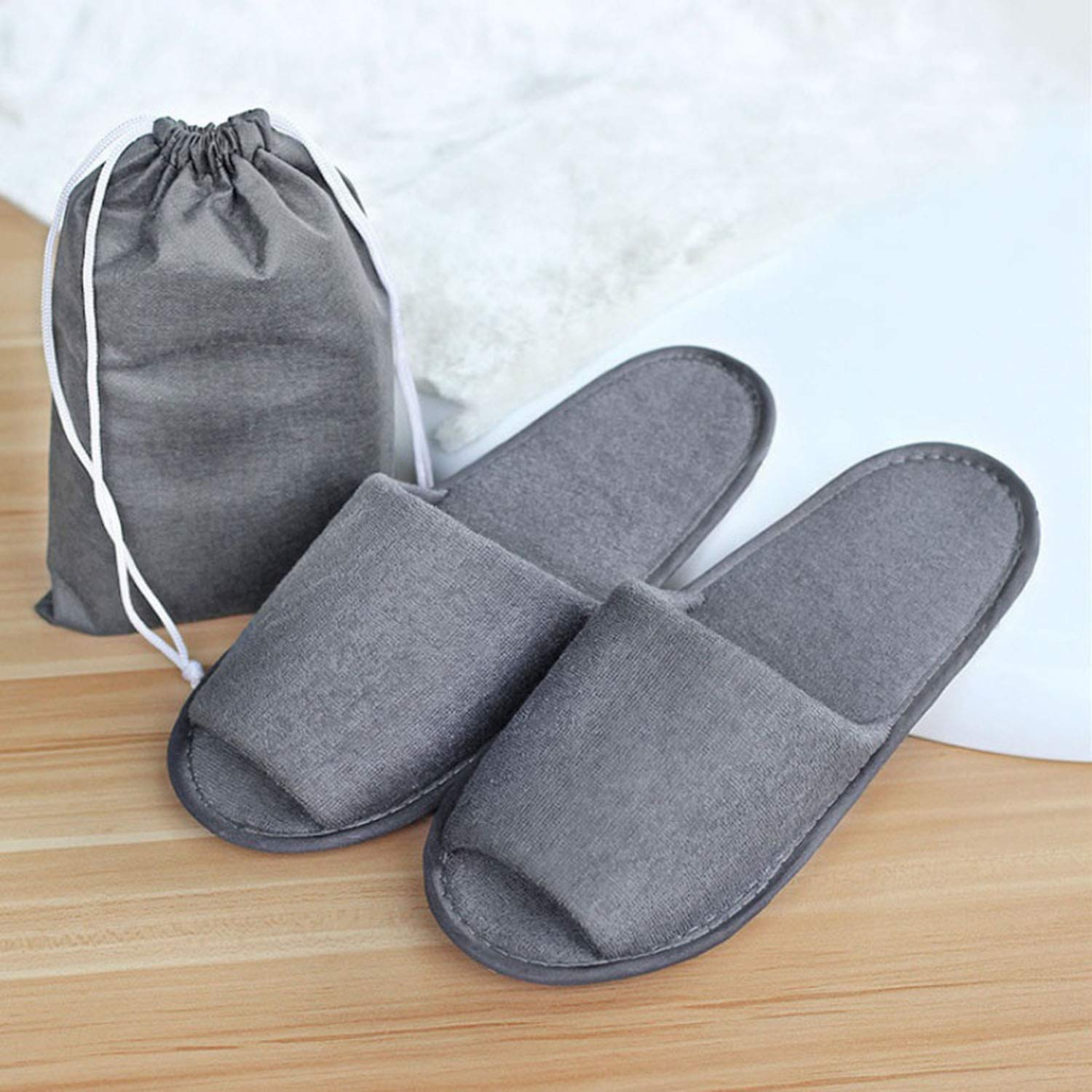 New Simple Slippers Men Women Hotel Travel Spa Portable Folding House Slippers Indoor Shoes