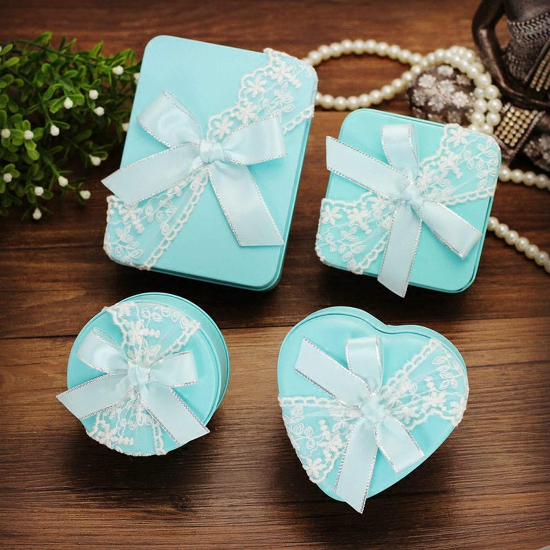 Amazon.com: Caja de boda de varios tamaños con encaje y ...