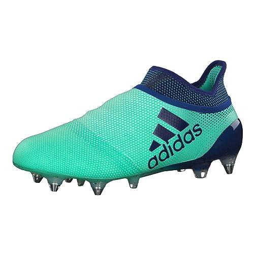 adidas X 17 SG, Zapatillas de Fútbol para Hombre, Verde (Aergrn/Uniink/Hiregr Aergrn/Uniink/Hiregr), 44 EU: Amazon.es: Zapatos y complementos