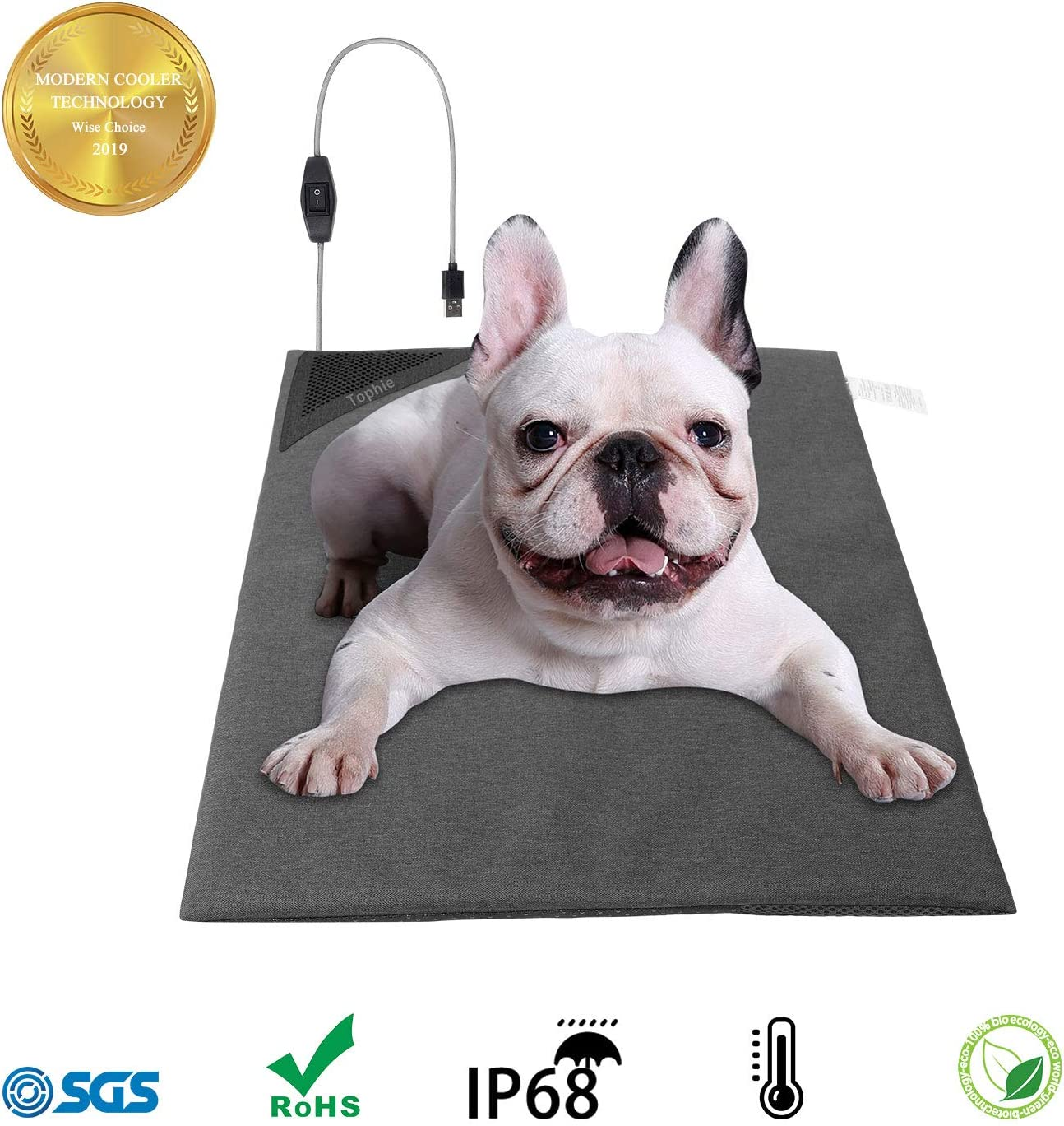 Tophie Dogs Cooling Mat, Dog Cooling Pad 24 Hours Physical Water Cooling, No Need to Freeze Or Refrigerate Pet Cooling, Cool Mat for Dog and Cat Indoor and Outdoor Keep Your Pet Cool