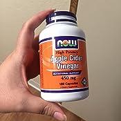 Amazon.com: NOW Supplements, Apple Cider Vinegar 450 mg