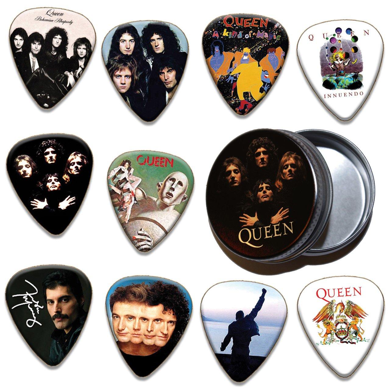 Queen 10 X Gitarre Pick Plektrums Plektrons & Tin ( Limited To 100 )