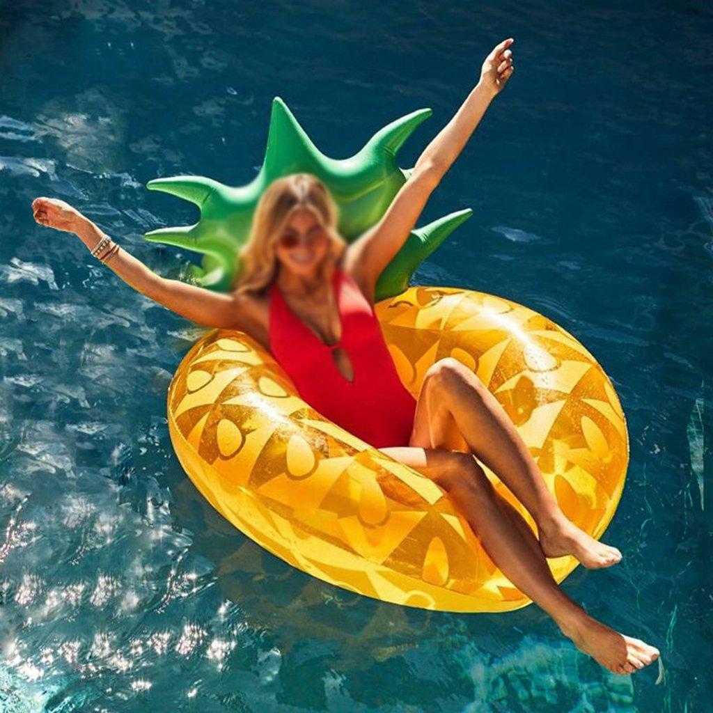 WLWWY Boya De Vida De Piña Amarilla Inflable Gigante, Piscina Al Aire Libre Cama De Fiesta De Flotador De Flotador Floatie Con Válvulas Rápidas Para Adultos ...