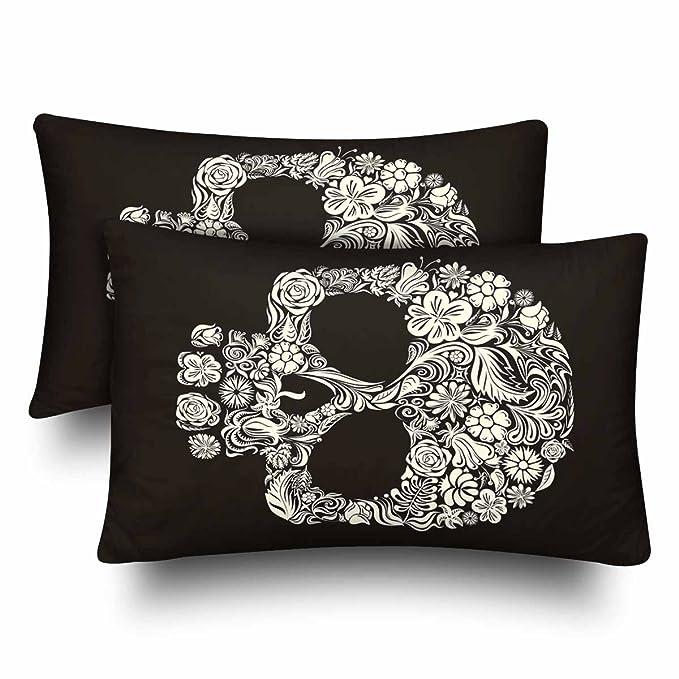 InterestPrint Juego de 2 fundas de almohada rectangulares para ...
