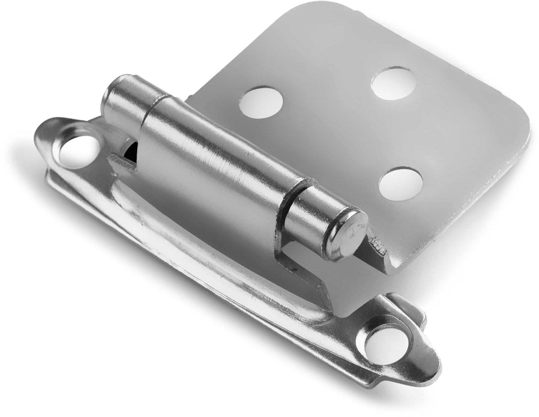 Berlin Modisch Overlay Cabinet Hinge 10 Pair (20 Units) Self-Closing Decorative, Face Mount, for Variable Overlay Kitchen Cabinet Doors Satin Nickel Finish, with Sound Dampening Door Bumpers by Berlin Modisch (Image #6)