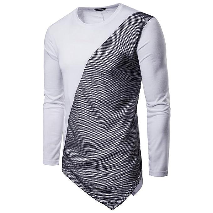 ♚Btruely Herren Sudaderas Hombres de Cuello Redondo Camisetade Blusa Hombres de Manga Larga Camiseta de
