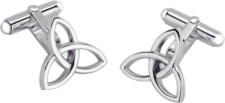 Select Gifts Box Set James Bond Money Clip Sterling 925 Solid Silver Celtic Knot Cufflink EJ/_SC2623/_SDP1620