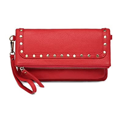 Amazon.com: Francesca piel Crossbody/bolso, Rojo: Shoes