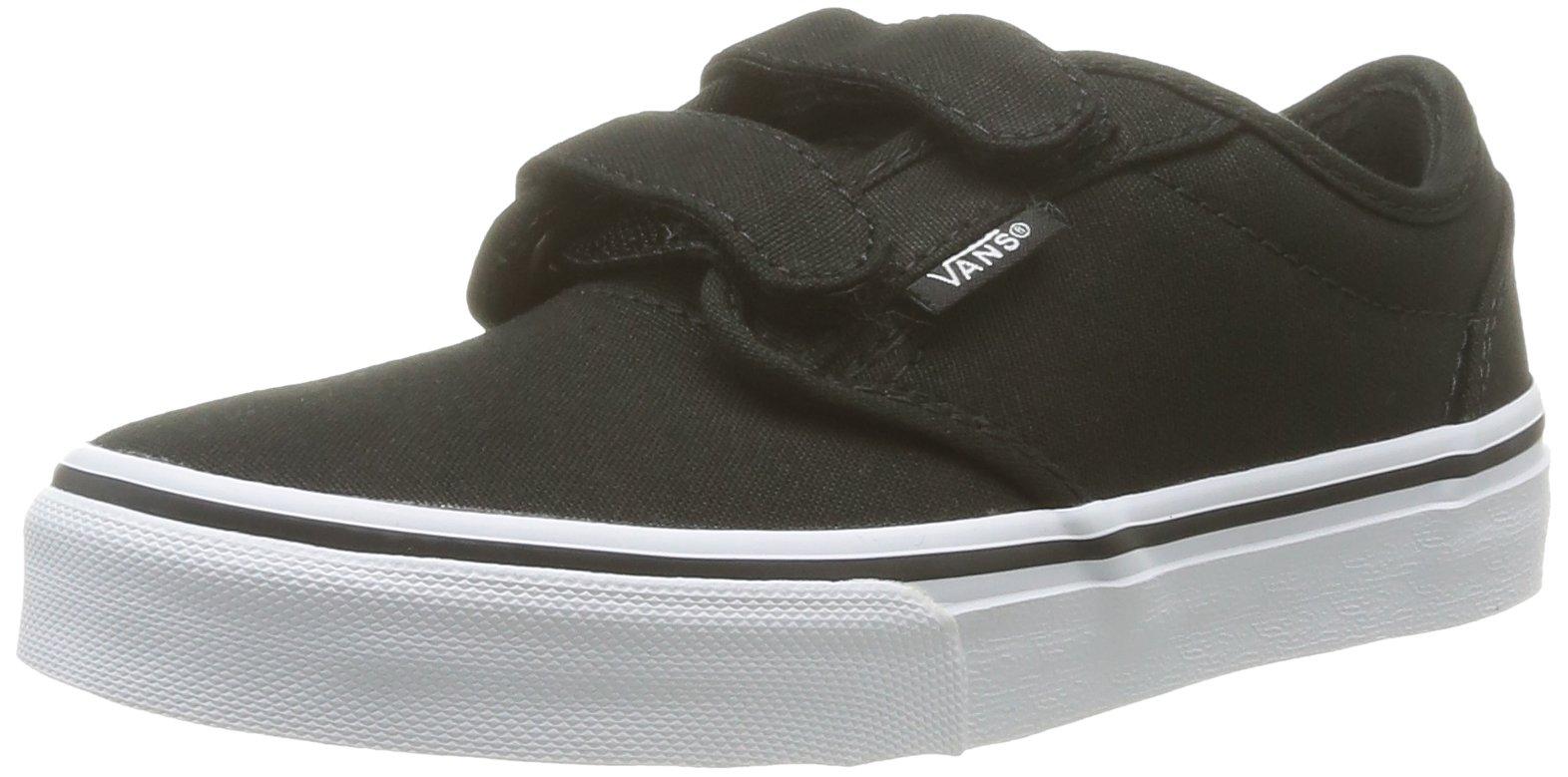7f98969c588 Galleon - Vans Kids Atwood Canvas Strap Fasten Shoes Black White Size 2