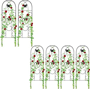 "Amagabeli 2 Pack Garden Trellis 60"" x 18""& Amagabeli 4 Pack Garden Trellis for Climbing Plants 60"" x 18"" Bundle"