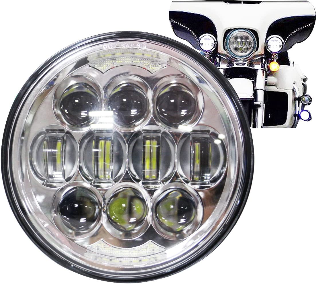 Amazon.com: COWONE 80W 5-3/4 5.75 LED Headlights Compatible with Harley  Dyna Sportster 883 Triple Low Rider Wide Glide Motorcycle Headlamp  Projector Driving Light: Automotive