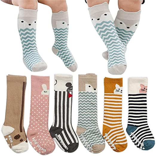 Amazon Com Baby Knee High Socks Girls Boys Toddler Uniform Cotton