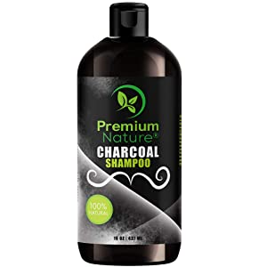 Charcoal Shampoo Sulfate Free Clarifying - All Natural Volumizing & Moisturizing Anti Dandruff Activated Charcoal Hair Shampoo Treatment for Oily or Dry Scalp, Curly, Damaged & Treated