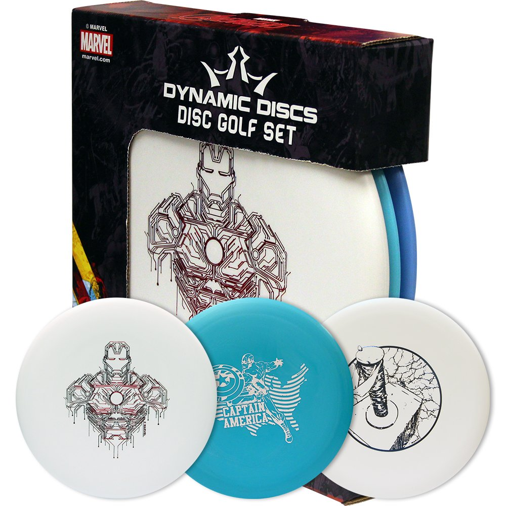 Dynamic Discs Marvel Prime Disc Golf Starter Set [Disc models, weights, and colors may vary]