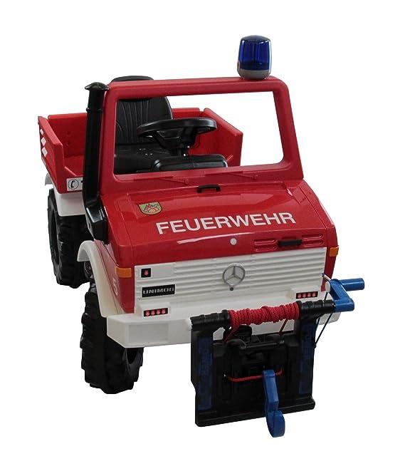 Rolly Toys Unimog Feuerwehr - Rolly Unimog Feuerwehr mit Seilwinde