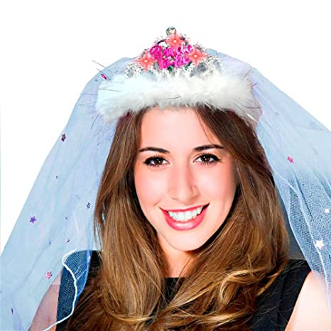 BRIDE TO BE VEIL Hen Night Party Tiara /& Accessories inc.Flashing Bride to Be