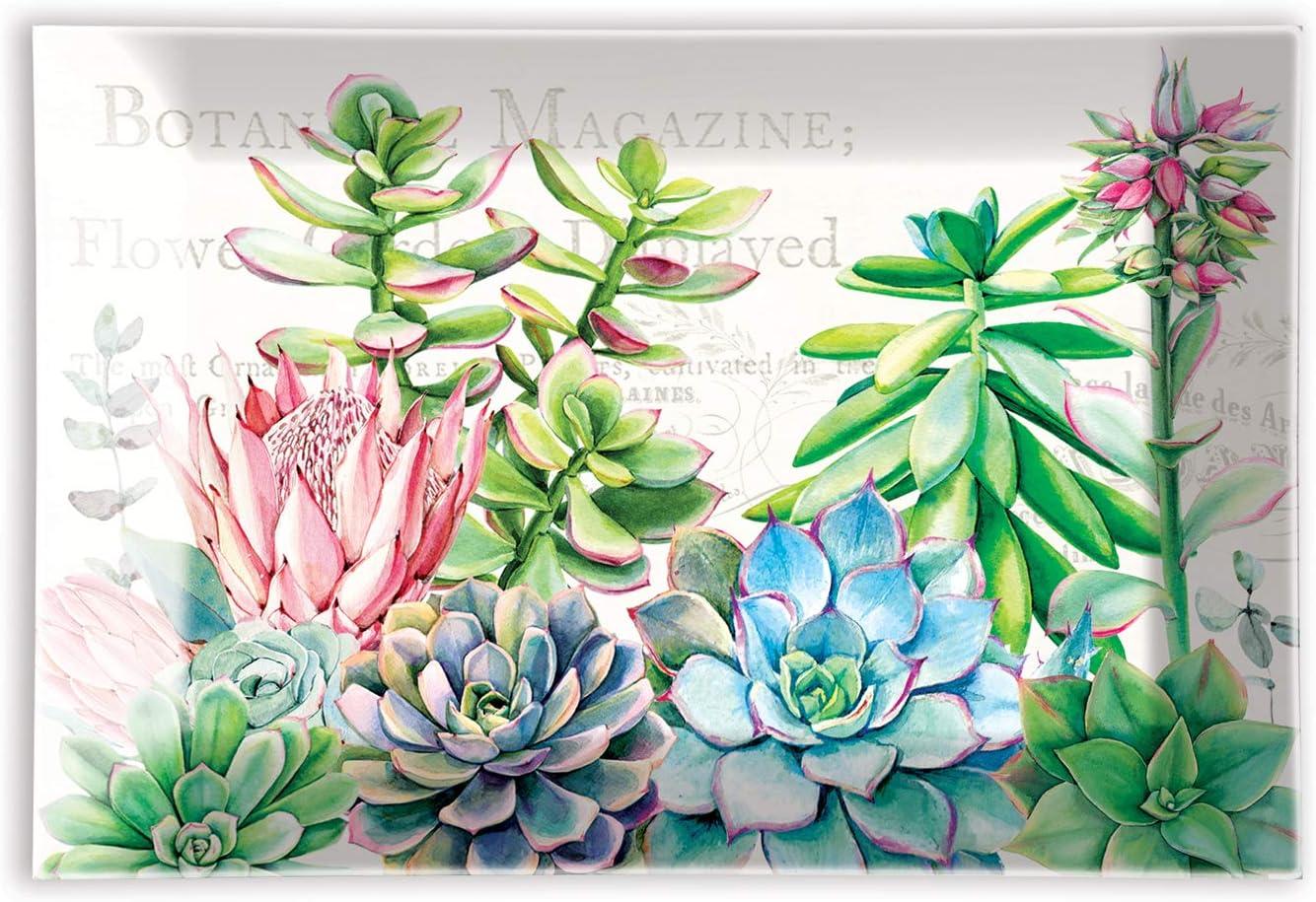 NEW Michel Design Works Glass Soap Dish Botanical Garden