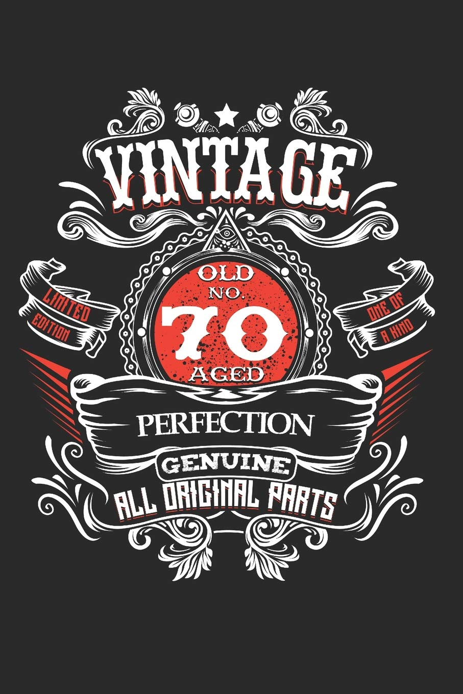Vintage Old No 70 Aged Perfection Genuine All Original Parts 70th Birthday Party Decorations 1949 Years Milestone Celebration Message Log