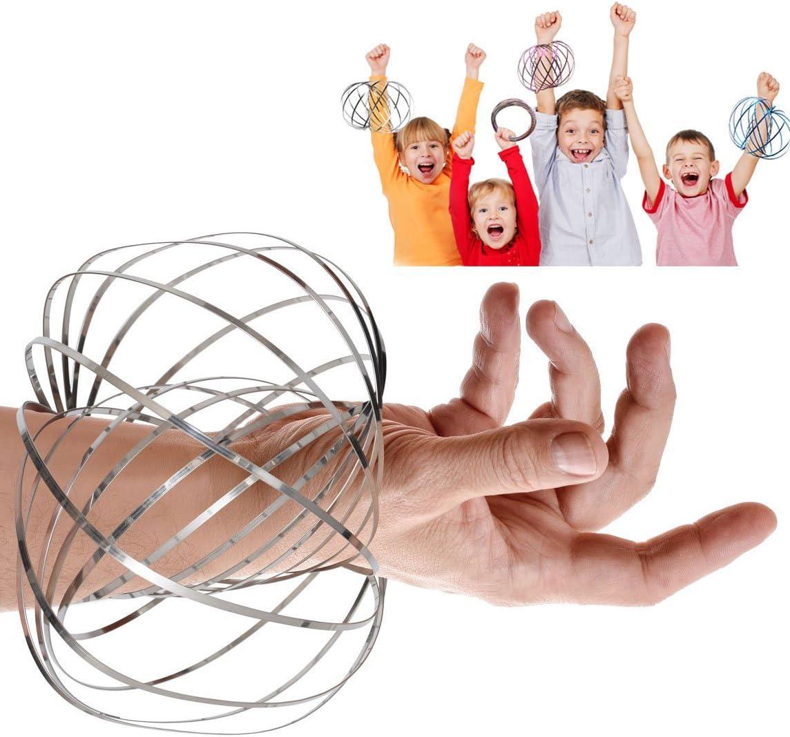 VNVDFLM Flow Ring Kinetic 3D Spring Magic Toy –Best Gifts for Kids