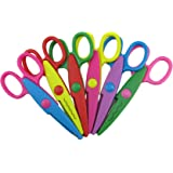 Honbay Pack of 6 Assorted Colors Kids Smart Paper Edger Scissors for Teachers, Students, Crafts, Scrapbooking, DIY Photos, Album, Decorative