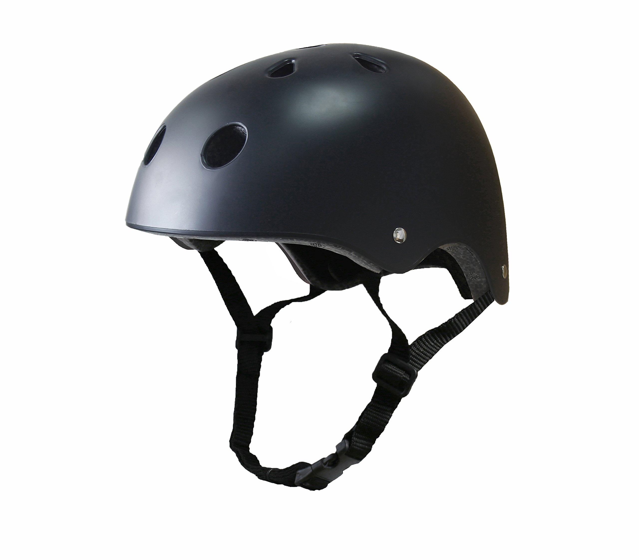 Tourdarson Adult Skateboard Helmet Specialized Certified Protection Sport for Scooter Skate Skateboarding Cycling (Matte Black,Large)