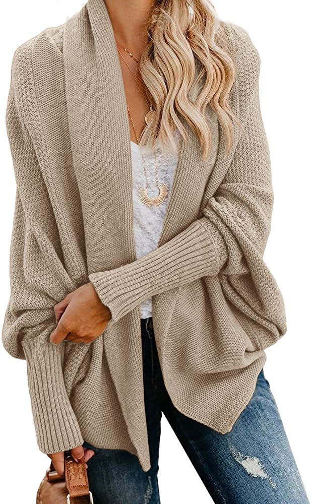 aggiungere Argento scopo  Imily Bela Womens Kimono Batwing Cable Knitted Slouchy Oversized Wrap Cardigan  Sweater at Amazon Women's Clothing store