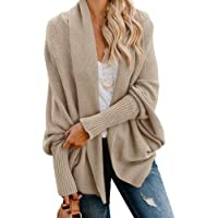 Amazon Price History:Imily Bela Womens Kimono Batwing Cable Knitted Slouchy Oversized Wrap Cardigan Sweater