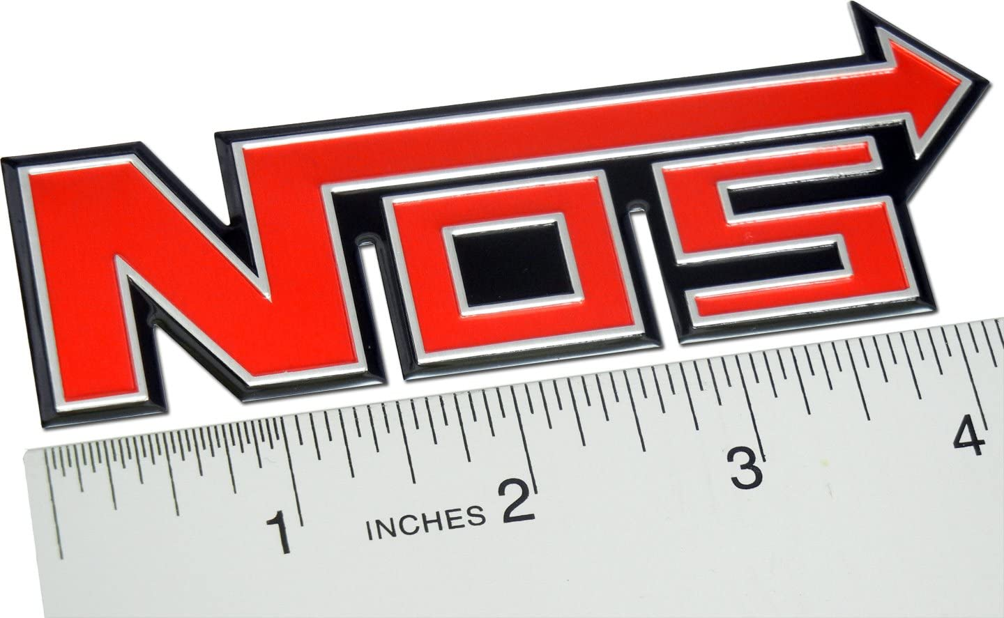 NOS Decal Sticker Nitrous Oxide Label Graphic Set Vinyl Adhesive 8 Pcs White