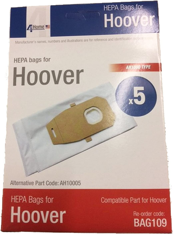 4YourHome Hoover Platinum Type Q High Efficiency HEPA Vacuum Bags 5 Pack Replaces Part AH10000 UH30010COM