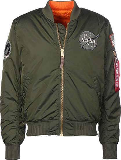 Verde Ma Vf 1 Alpha Industries Reversible Rp Nasa Bomber Oscuro qwtXZ0