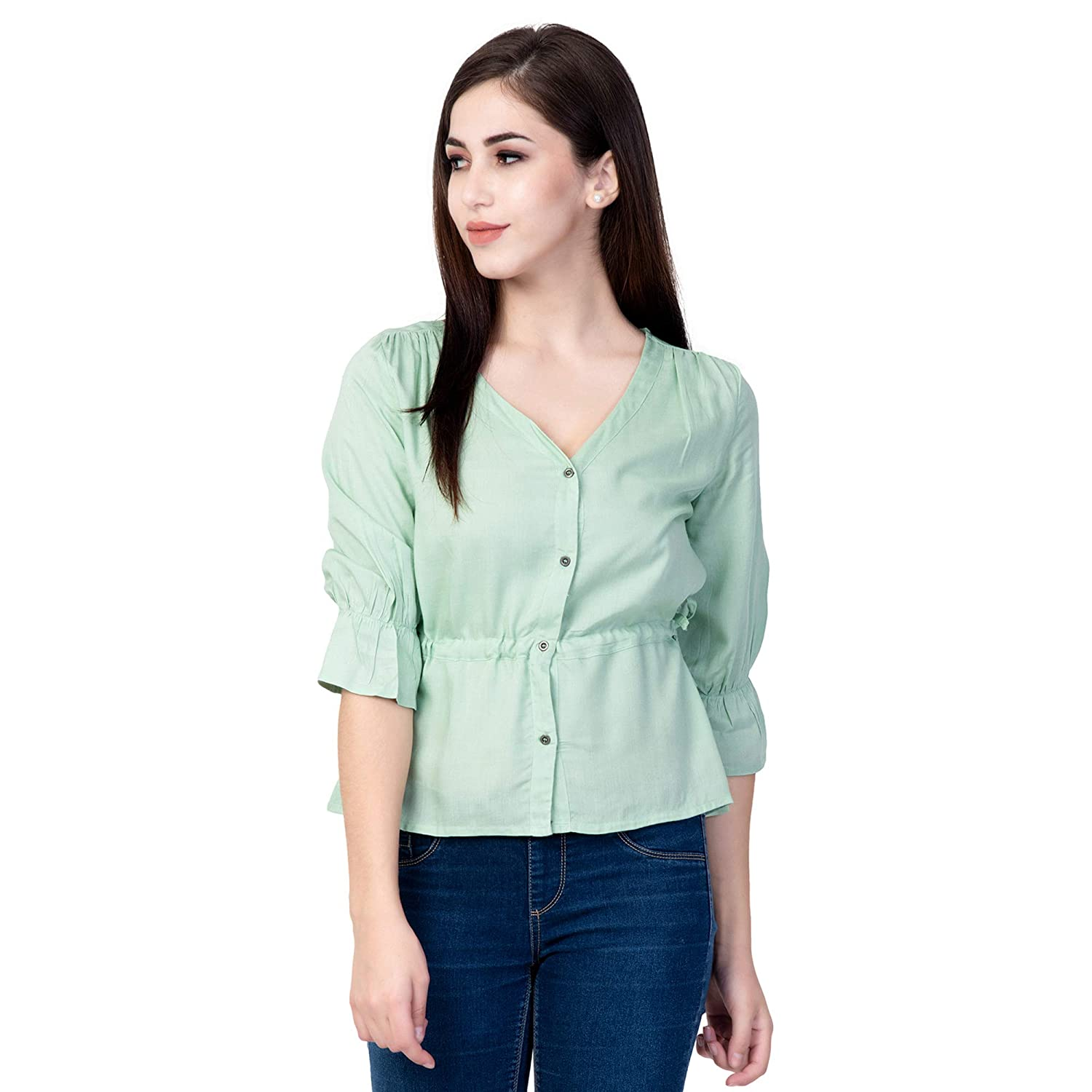 Rayon Solid Festival Top