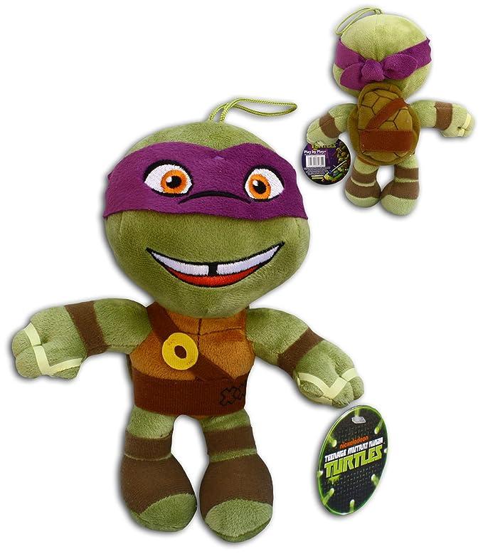 Donatello 30cm Super Soft Peluche Pañuelo Violeta Morado Mascara Las Tortugas Ninja Mutantes Adolescentes (TMNT) Turtles Pelicula