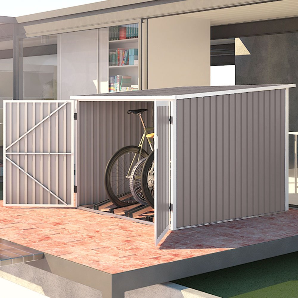 #SVITA Fahrradgarage Bicycle Box Fahrradhaus Fahrradbox Bike-Box in hellgrau 5,6m³#
