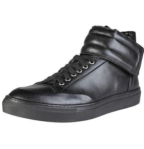 Versace - Zapatillas de Piel para Hombre Negro Negro: Amazon.es: Zapatos y complementos
