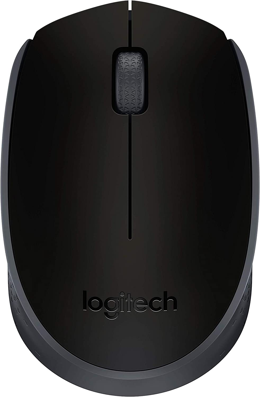 Logitech M170 2. 4GHz Wireless 3-Button Optical Scroll Mouse W/Nano USB Receiver (Black)