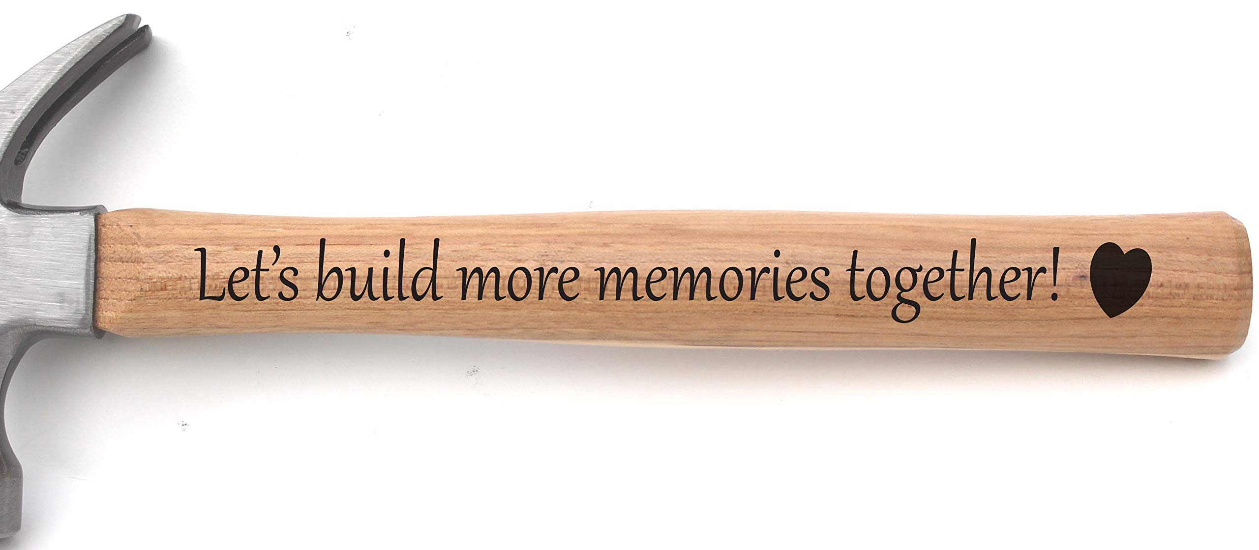 Building Memories Hammer - Personalized Hammer for Wedding or Anniversary or Birthday - Engraved Hammer Building Memories - Unique Gift for Dad Grandpa Uncle Brother or any Men