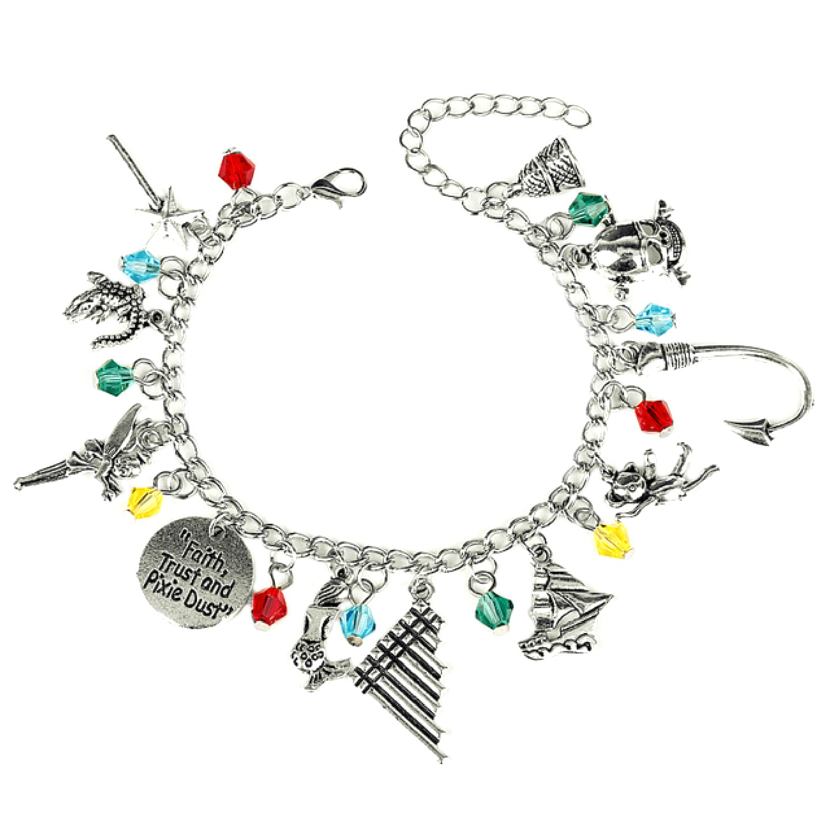 US FAMILY Peter Pan Movie Theme Multi Charms Jewelry Bracelets Charm by Family Brands by US FAMILY (Image #2)